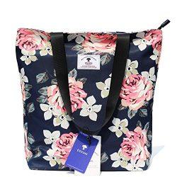 Original Floral Tote Bag Shoulder Bag for Gym Hiking Picnic Travel Beach ([W] upgraded large size 6)