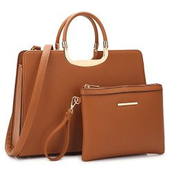 Designer Women Laptop Briefcase, Large Handbag for Lady PU Leather Satchel Lightweight Tote Summ ...