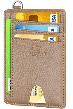FurArt Slim Minimalist Wallet, Front Pocket Wallets, RFID Blocking, Credit Card Holder with Disa ...