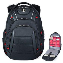 Swiss Backpack for Men, TSA Smart Scanner Friendly Laptop Business Travel Backpacks Scansmart Ba ...