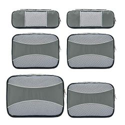 ZOMAKE 6 Set Packing Cubes for Travel – Lightweight Luggage Packing Organizer Travel Acces ...