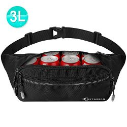 MYCARBON Large Fanny Pack for Men and Women Fashion Waist Bag Big Hip Bum Bag with Adjustable St ...