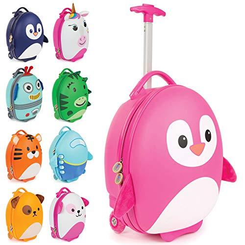 Boppi Tiny Trekker Kids Luggage Travel Suitcase Carry On Cabin Bag Holiday Pull Along Trolley Li ...