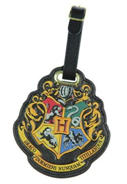 Harry Potter Hogwarts Crest Luggage Tag – Black – One Size