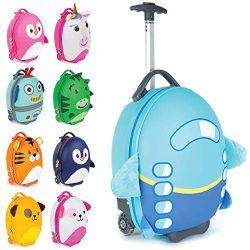 Boppi Tiny Trekker Kids Luggage Travel Suitcase Carry On Cabin Bag Holiday Pull Along Trolley Li ...