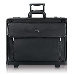 Solo Herald 15.6 Inch Rolling Laptop Catalog Case with Dual Combination Locks, Black
