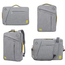 15.6 inches Laptop Backpack Computer Cases, Convertible Business Backpack Briefcase Messenger Ba ...