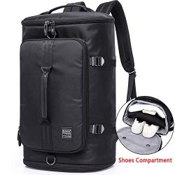 KAKA Travel Duffel Backpack, Outdoor Travel Bag with Shoe Compartment, Laptop Bookbag Weekender  ...