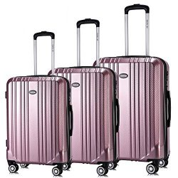 Travel Joy Luggage Set Expandable Suitcase Carry On TSA Locks Lightweight Spinner Wheels ABS+PC  ...