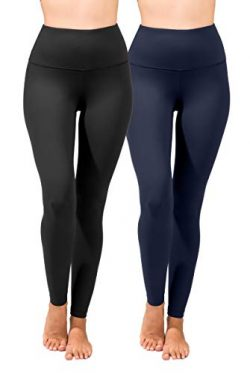90 Degree By Reflex High Waist Power Flex Legging – Tummy Control – Black & Moon ...