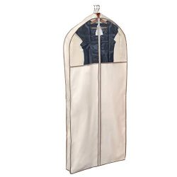 Smart Design Gusseted Dress Garment Bag w/ Clear Window – Includes Zipper Closure & Tr ...