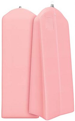 Gusseted Wedding Dress Garment Bag – For Long Puffy Gowns – 72″ x 24″, 2 ...