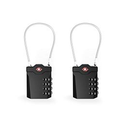 TSA Approved Travel Luggage Locks (Pack of 2)