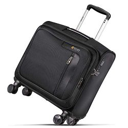 REYLEO Rolling Briefcase on 8 Wheels Rolling Laptop Bag Rolling Computer Case Spinner Mobile Off ...