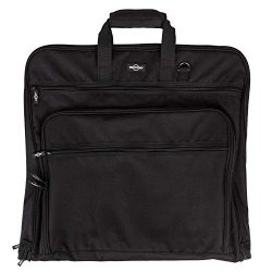 Prottoni 44-Inch Garment Bag for Travel – Suit Carrier (Black, 44″)