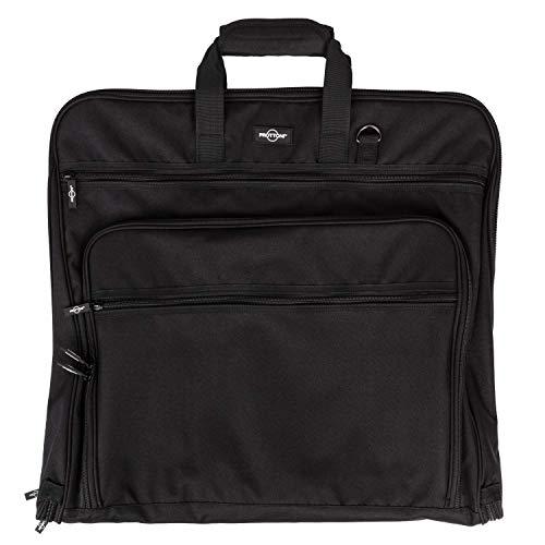 Prottoni 44-Inch Garment Bag for Travel – Suit Carrier (Black, 44″)