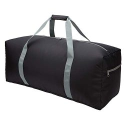 22 inch Foldable Travel Duffel Bag Small Lightweight Luggage for Travel Sport (Black)