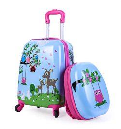 Kids Suitcase Hardshell Spinner Wheels Boys Girls Luggage 18 inch Carry On Travel Trolley LeLeTi ...