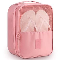 Travel Accessories,Mossio Water Resistant Portable Gym Golf Shoe Bag Light Pink