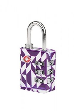 Travelon TSA Luggage Lock, Purple Diamond