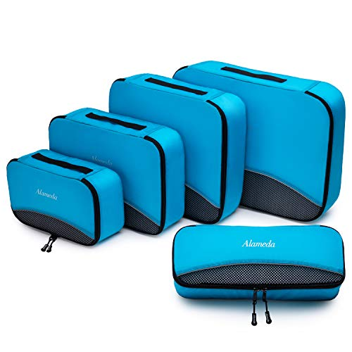 5pcs Packing Cubes for Travel Accessories Set, Luggage Organizer Bags with Large Medium Small Si ...