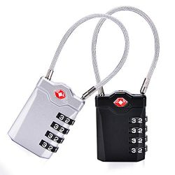 TSA Approved Luggage Locks, Travel Combination Locker Lock with Inspection Indicator and Alloy B ...