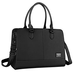 MOSISO Womens Laptop Bag (Up to 15.6 Inch), Briefcase for Women,PU Leather Large Capacity with 3 ...