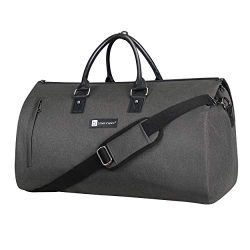 Large Garment Duffle Bag Convertible Fit Suit Weekend Travel Carrier with Quick Access Shoe Poch ...