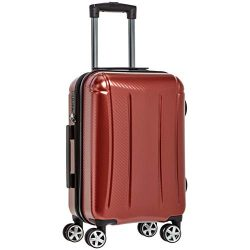 AmazonBasics Oxford Carry-On Expandable Spinner Luggage Suitcase with TSA Lock – 20 Inch, Red