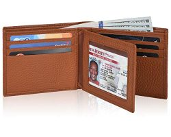 Clifton Heritage Leather Wallets for Men – RFID Blocking Bifold Travel Wallet with Extra C ...