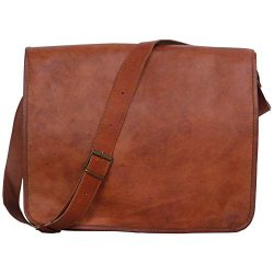 Komal's Passion Leather Vintage Mens 16 Inch Leather Laptop Messenger Pro Satchel Men̵ ...