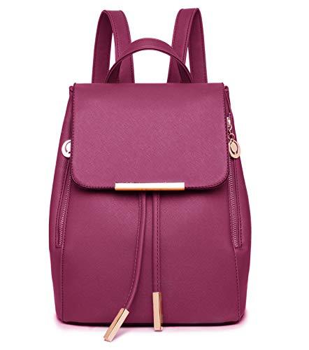WINK KANGAROO Fashion Shoulder Bag Rucksack PU Leather Women Girls Ladies Backpack Travel bag (W ...