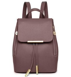 WINK KANGAROO Fashion Shoulder Bag Rucksack PU Leather Women Girls Ladies Backpack Travel bag (c ...