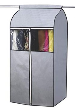 SLEEPING LAMB Garment Bag Organizer Storage with Clear PVC Windows Garment Rack Cover Well-Seale ...