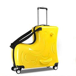 The Latest Unisex Travel Tots Kids Trunk, Children Seat Suitcase(Yellow, 24inch)