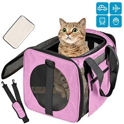 Moyeno Airline Approved Pet Carrier Cat Carriers Dog Carrier for Small Medium Cats Dogs Puppies  ...