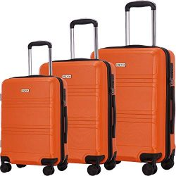 Luggage Set 3 Piece Suitcases ABS Trolley Suitcase Spinner Hardshell Lightweight TSA