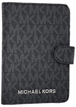 Michael Kors Jet Set Travel Passport Case Wallet (Black PVC 2019)