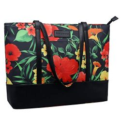 15.6 Laptop Bag for Women,Water-Resistant Nylon Multifunctional Work Tote Bag,Lightweight School ...