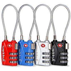TSA Approved Luggage Locks, Easy Re-settable Combination Backpack Lock, Travel Lock for Suitcase ...