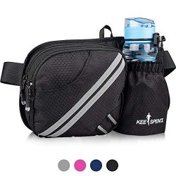 Hiking Fanny Pack, Waist Bag with Water Bottle Holder for Men Women Outdoors Walking Running, Do ...