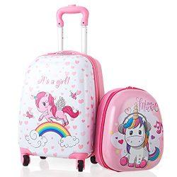 Goplus 2Pc Kid Luggage, 12″ & 16″ Kids Carry On Luggage Set, Kids Carry On Spinn ...
