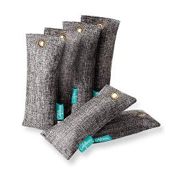Bamboo Charcoal Shoe Deodorizer Bags (6-Pack), 100-gram Mini Activated Charcoal Odor Absorber Ba ...
