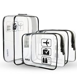 ANRUI Clear Toiletry Bag TSA Approved Travel Carry On Airport Airline Compliant Bag Quart Sized  ...