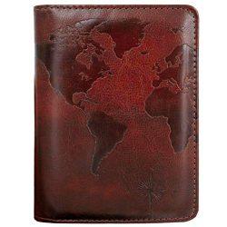 Kandouren RFID Blocking Passport Holder Cover Case,travel luggage passport wallet made with Brow ...
