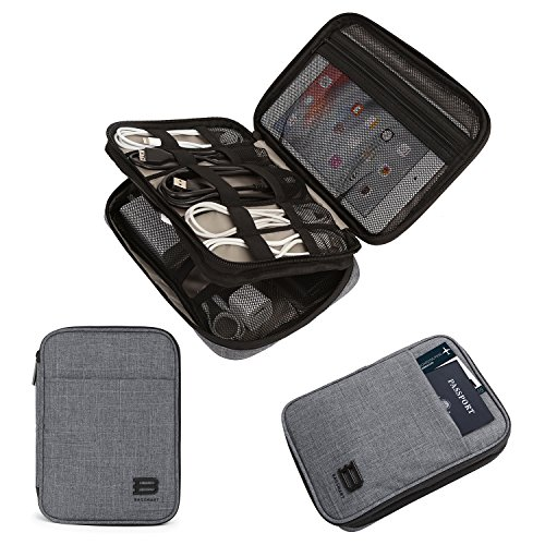 BAGSMART Electronic Organizer Double-Layer Travel Cable Organizer Electronics Accessories Cases  ...