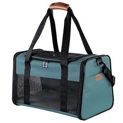 Akinerri Airline Approved Pet Carriers,Soft Sided Collapsible Pet Travel Carrier for Medium Pupp ...