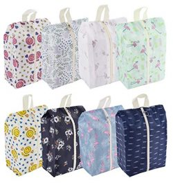 Travel Shoe Bags Waterproof Portable Shoe Storage Pouch with Handle for Men & Women (8 Pack  ...