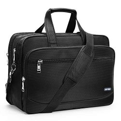 HOMIEE 17 Inch Laptop Bag Large Business Briefcase Expandable Messenger Shoulder Bag with Organi ...