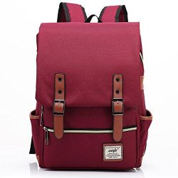 Canvas Backpack – Lightweight Laptop Backpack, Vintage Travel Backpack with Laptop Sleeve, ...